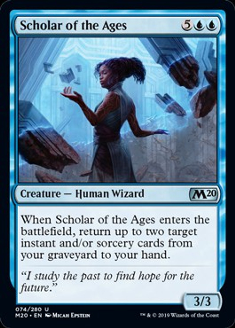 Magic The Gathering 2020 Core Set Single Card Uncommon Scholar of the Ages  74 - ToyWiz