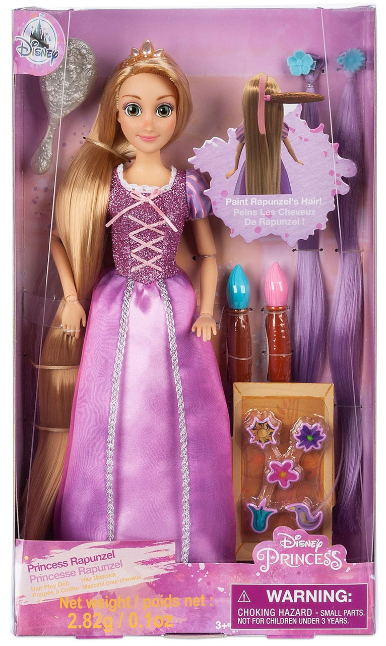 Disney Authentic Tangled Princess Rapunzel Figure w// Ring Classic Poseable Doll