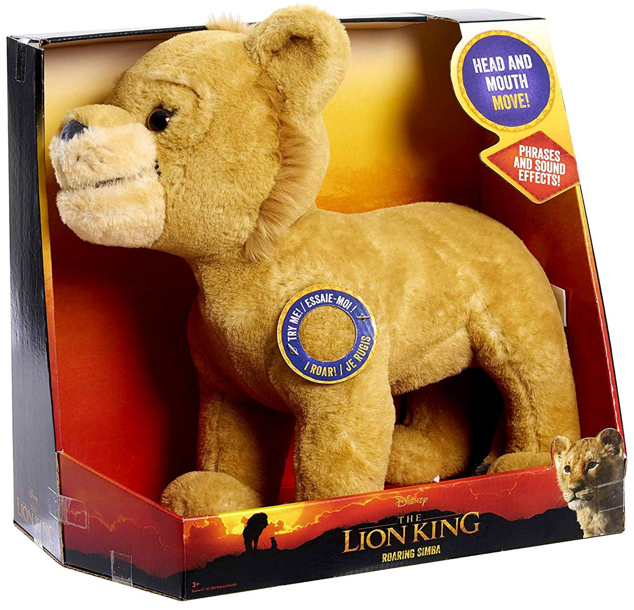 Disney The Lion King 2019 Roaring Simba 12 Inch Feature Plush