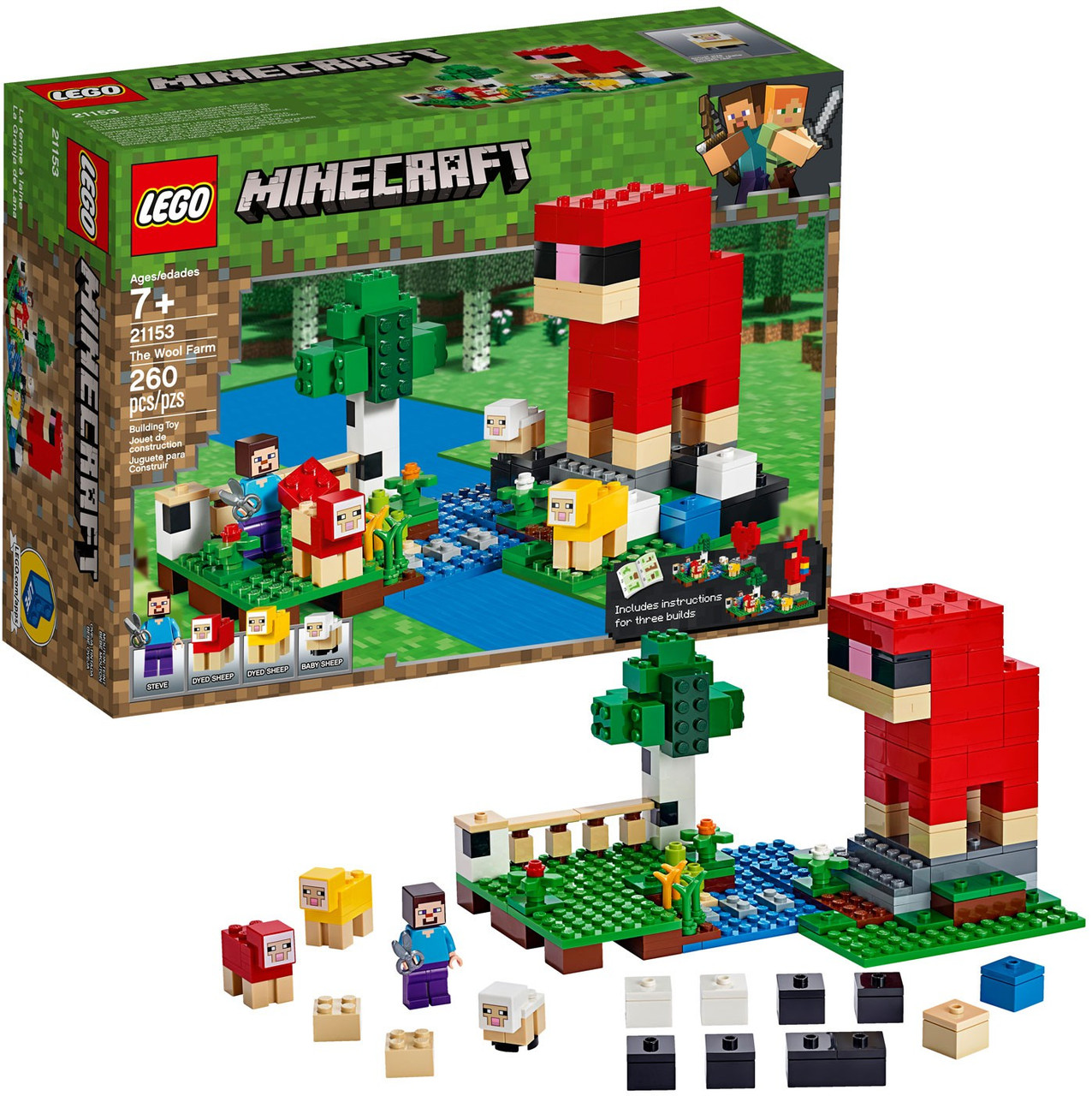 Lego Minecraft The Wool Farm Set 21153