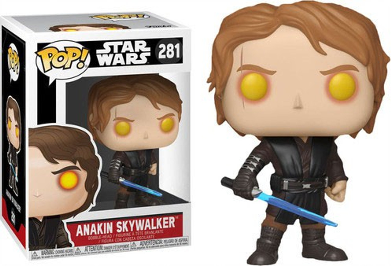 Funko Star Wars Revenge Of The Sith Pop Star Wars Anakin Skywalker Exclusive Vinyl Bobble Head 281 Dark Side Toywiz