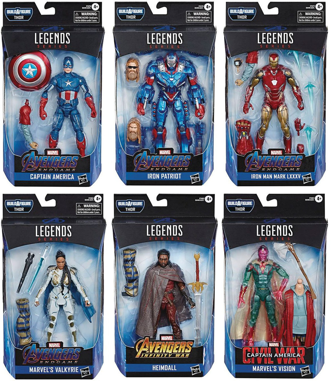 Avengers Endgame Marvel Legends Thor Series Set of 6 Action Figures  (Pre-Order ships March)