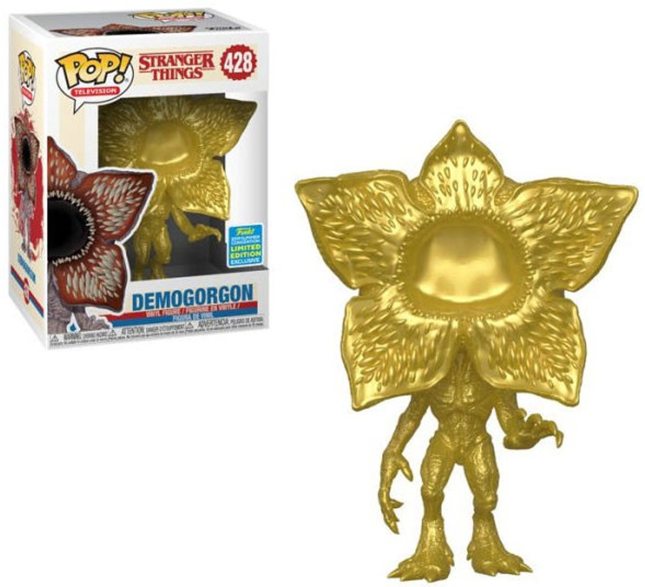Demogorgon Roblox Funko Stranger Things Pop Tv Demogorgon Exclusive Vinyl Figure 428 Gold Mouth Closed Toywiz