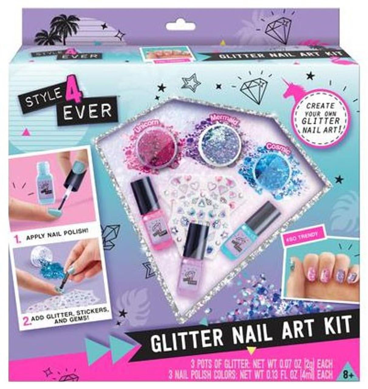Style 4 Ever Glitter Nail Art Kit Canal Toys - ToyWiz