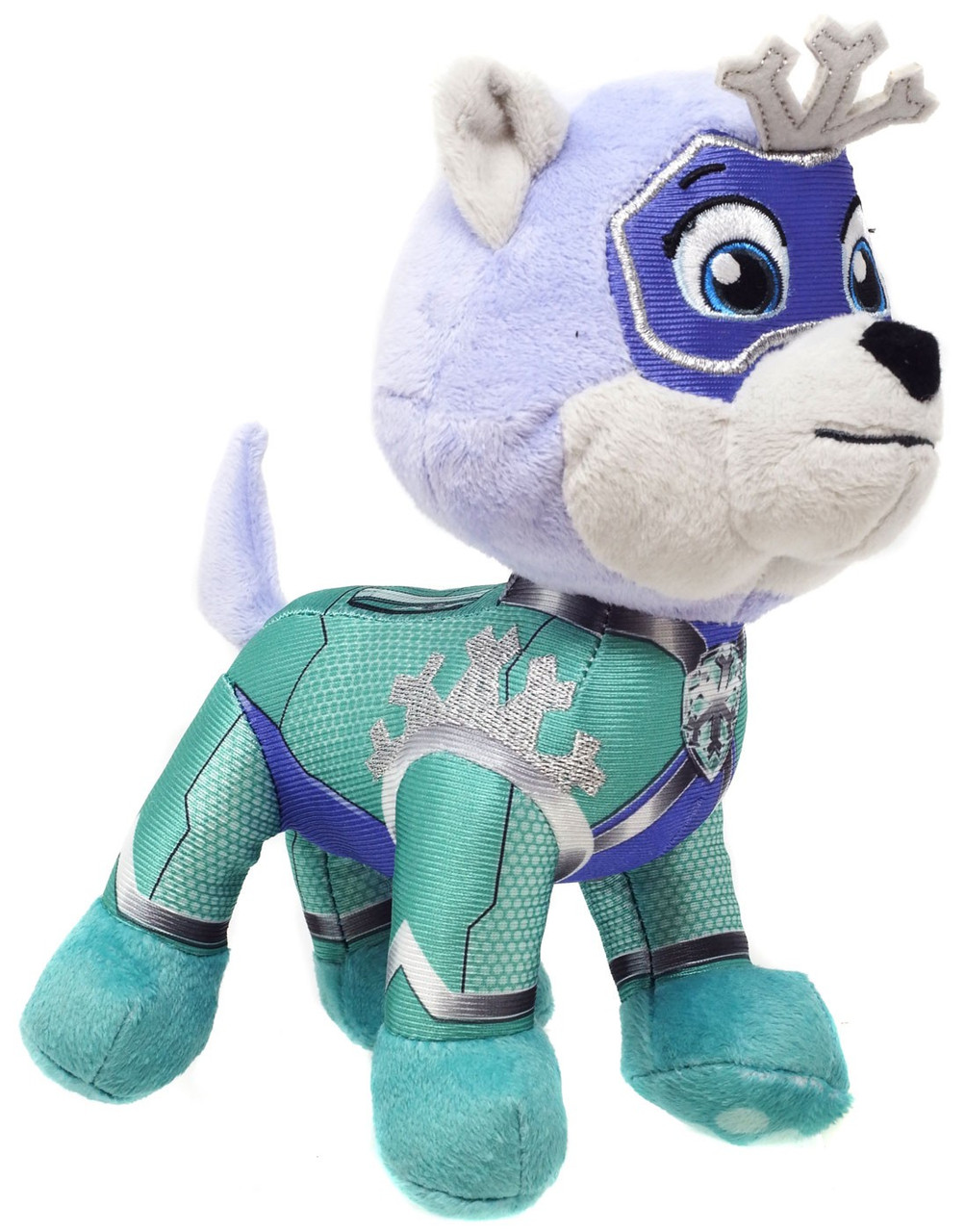 Paw Patrol EVEREST Plush Super Paws Mighty Pups Dog Stuffed Animal New With Tags