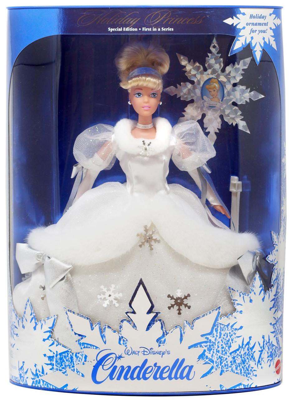 "New 4/"" Disney Blue Cinderella Princess Blown Glass Ornament"
