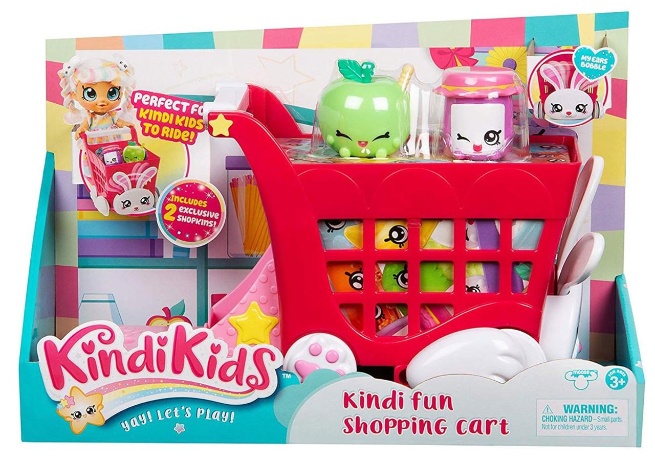 Kindi Kids Kindi Fun Shopping Cart Playset Moose Toys - ToyWiz