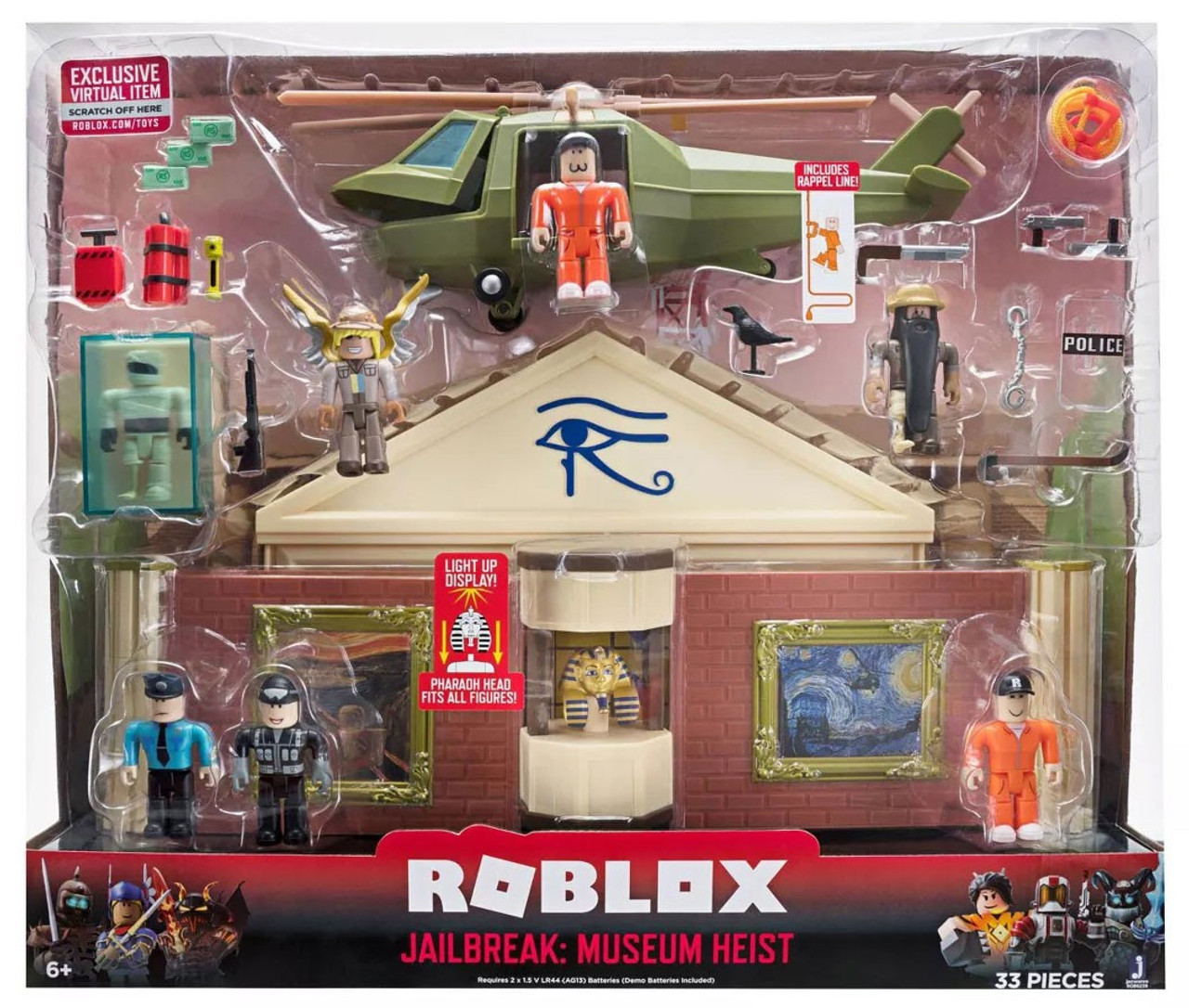 Roblox Desktop Series Jailbreak Museum Heist 3 Playset Jazwares Toywiz