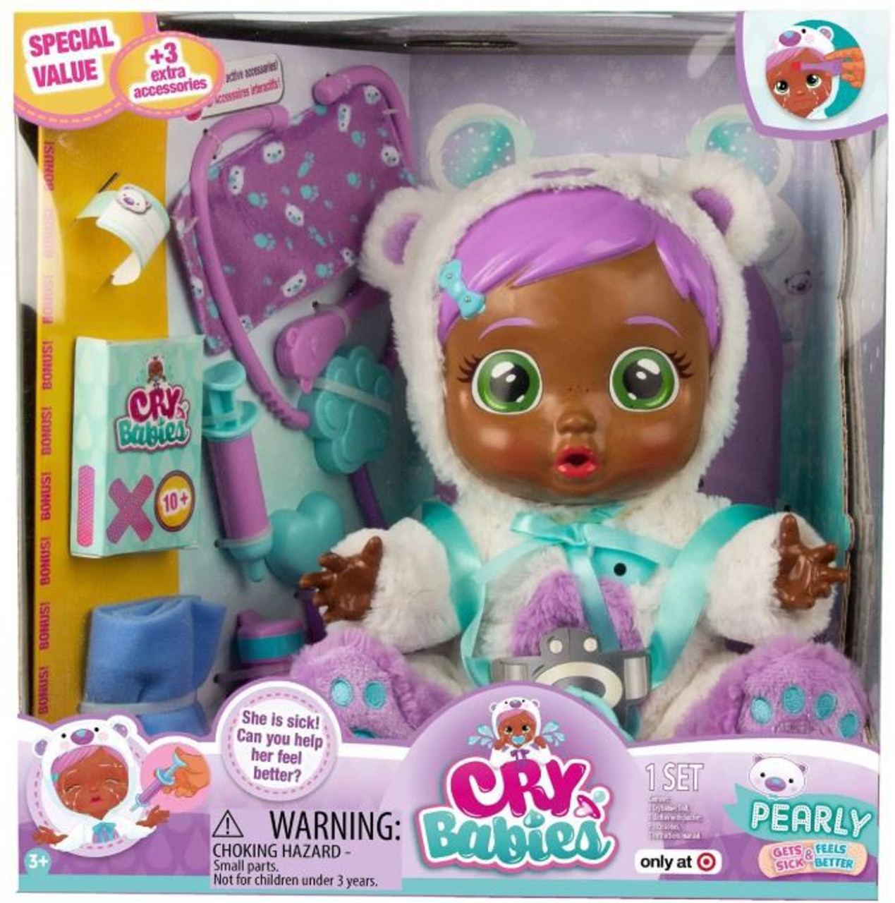Cry Babies Pearly Exclusive Deluxe Doll 3 Extra Accessories Imc Toys Toywiz