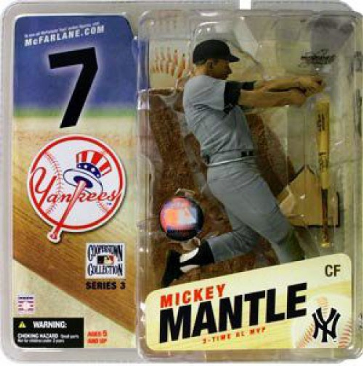 NEW~MICKEY MANTLE~2006 MCFARLANE~COOPERSTOWN COLLECTION SERIES 3-NY YANKEES