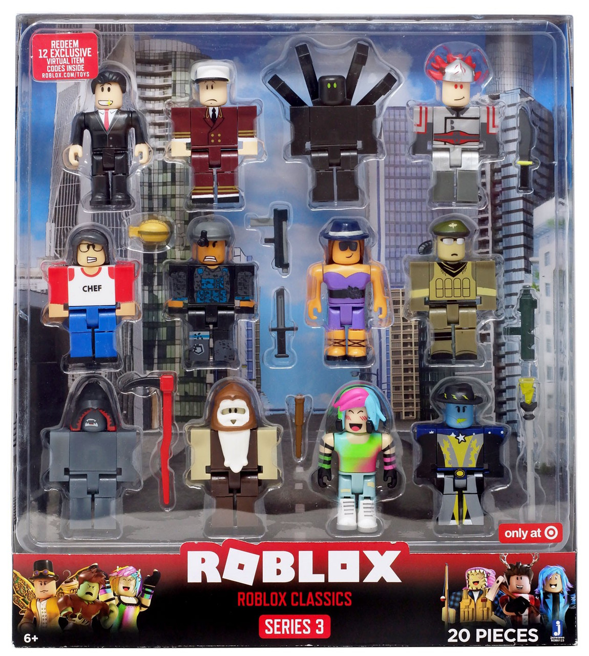 Roblox Series 3 Patient Zero Mini Figure Without Code No Packaging - Series 3 Roblox Classics Exclusive Action Figure 12 Pack