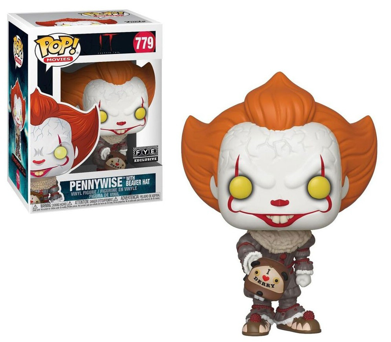 IT Funko POP Vinyl Pennywise With Teeth DAMAGED OUTER BOX Horror