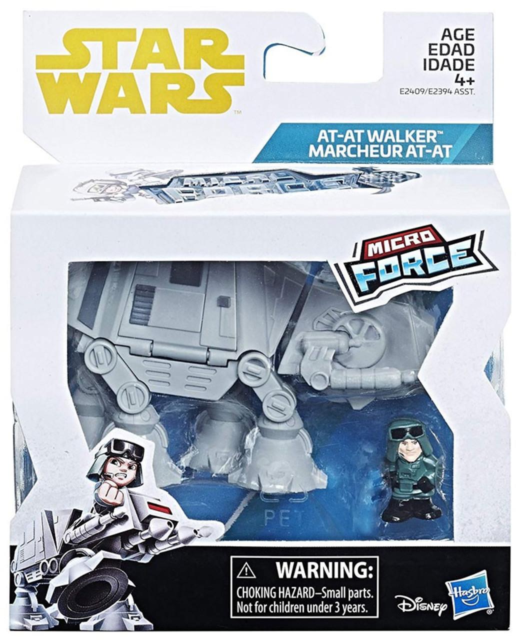 Star Wars Micro Force Vehicle Packs Snowspeeder Rey/'s Speeder /& AT-AT Walker