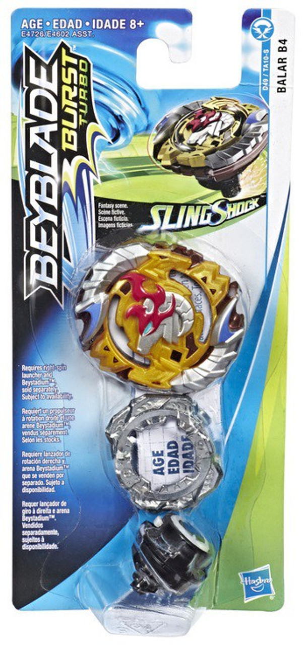 Beyblade Burst Turbo Slingshock Balar B4 Single Top (Pre-Order ships  October)