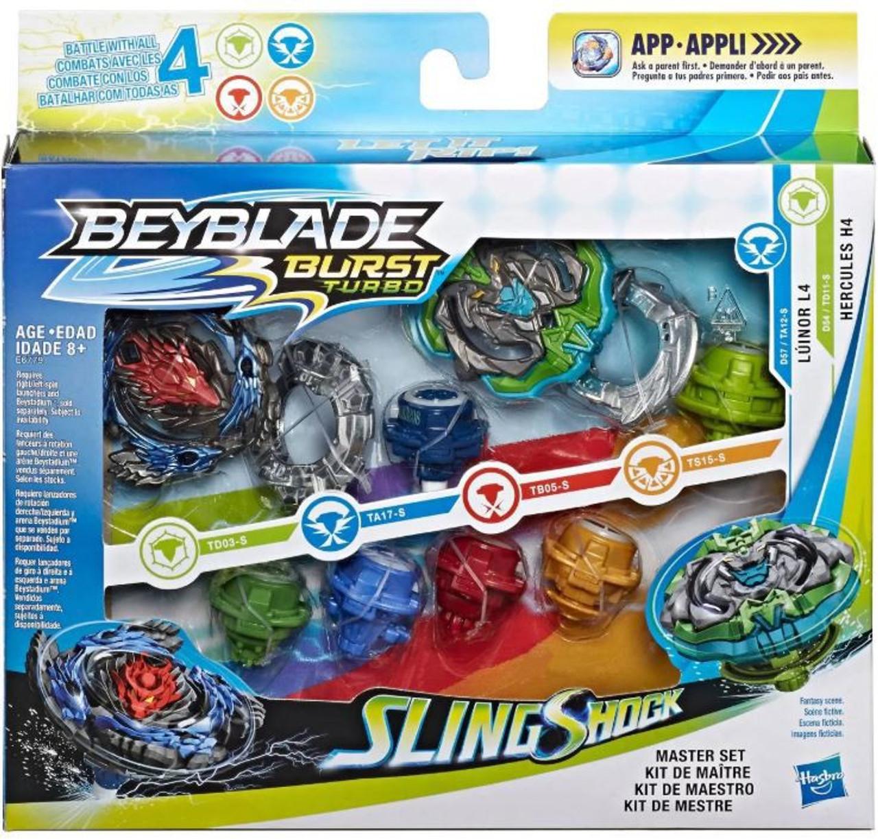Beyblade Burst Turbo Slingshock Master Set Pack Hasbro Toys
