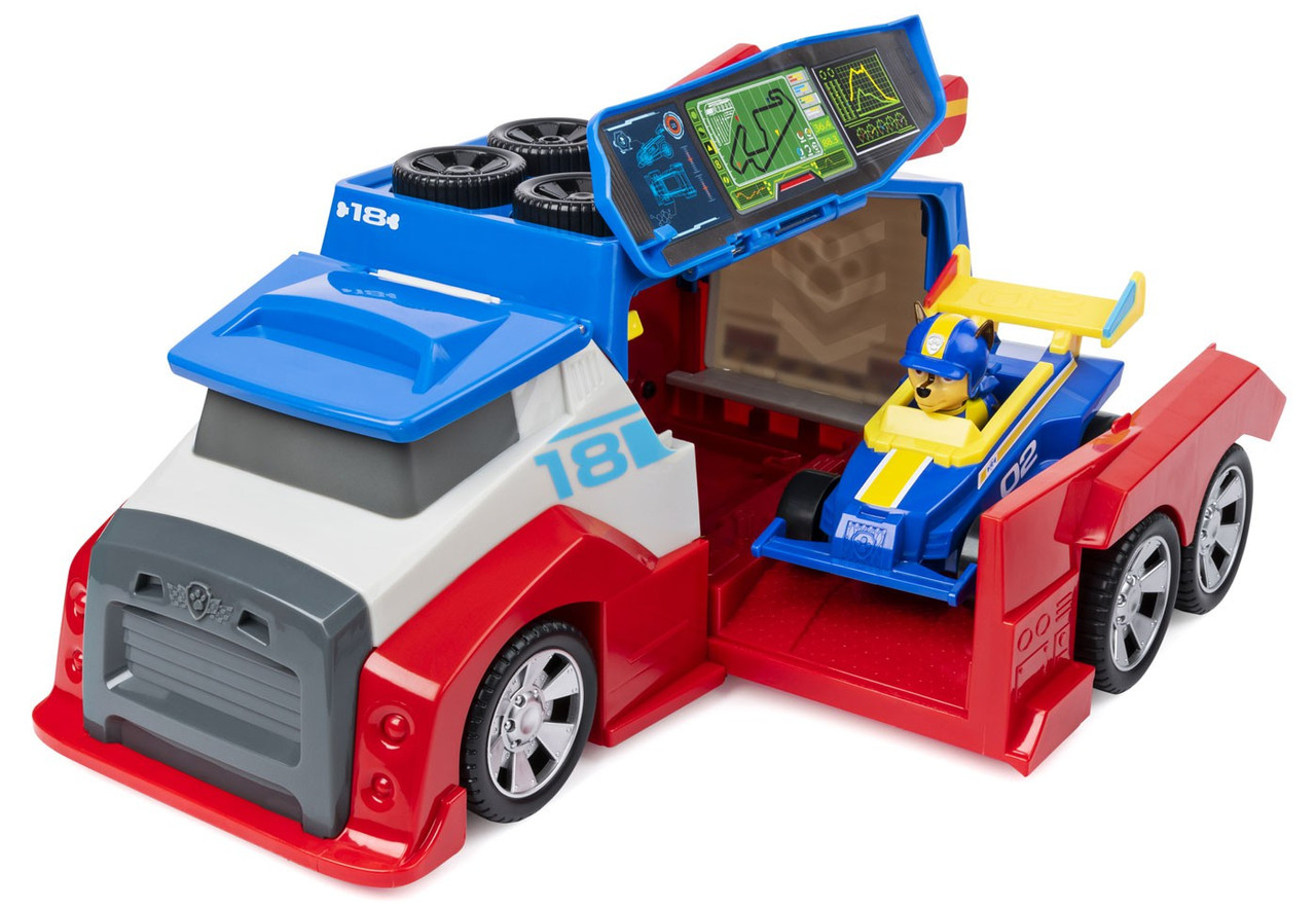 Paw Patrol Ready Race Rescue Team Vehicle Mobile Pit Stop