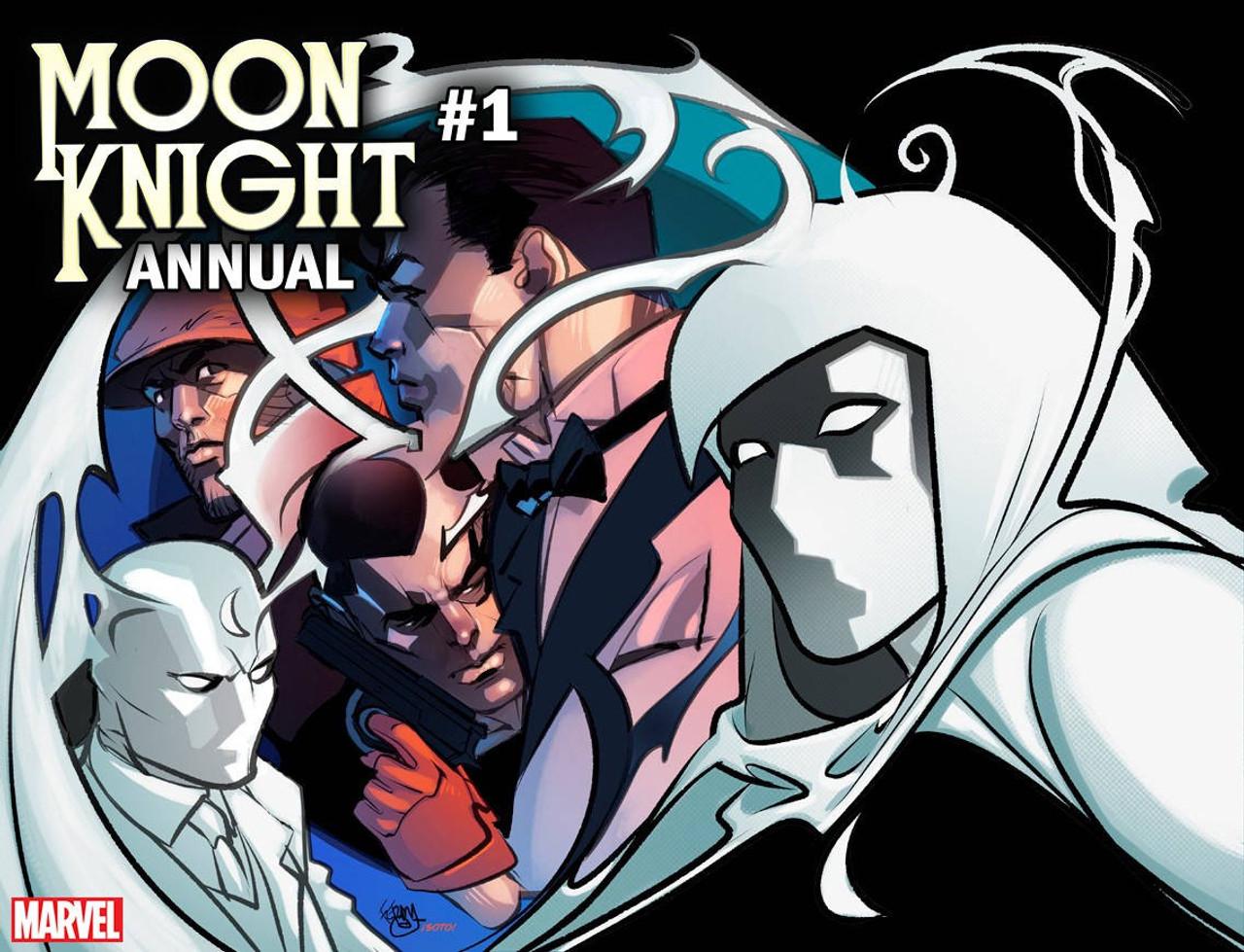 Marvel Comics Moon Knight Comic Book Annual 1 Pasqual Ferry ...