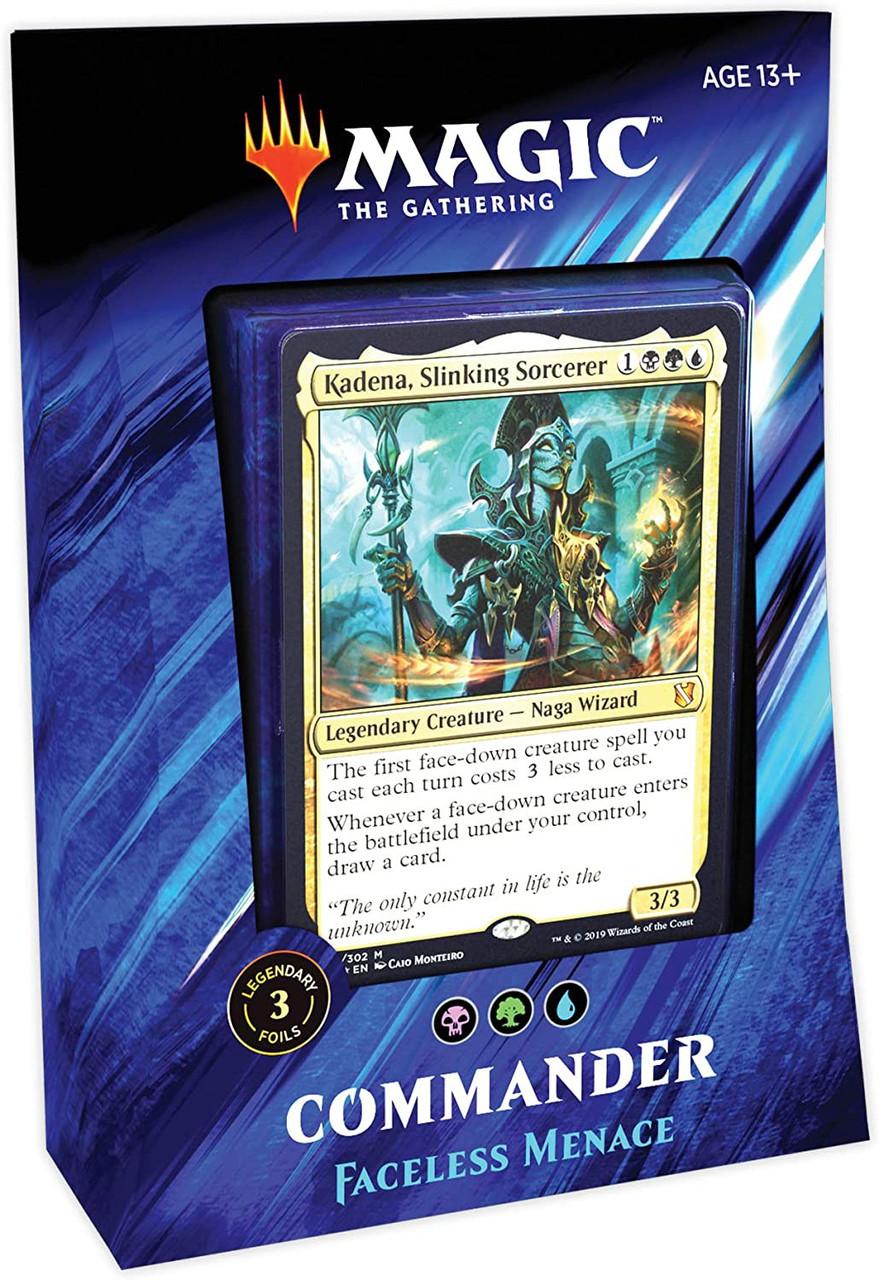 MtG Commander 2019 Faceless Menace Deck [Black Green Blue]