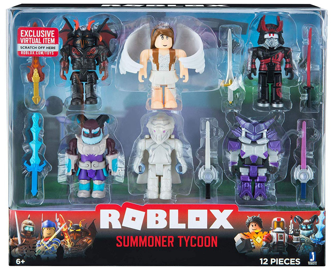 Roblox Mix Match Summoner Tycoon 3 Action Figure 6 Pack Jazwares