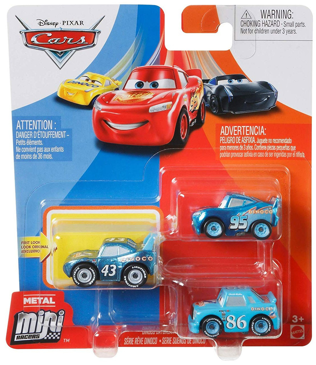 Disney Pixar Cars Die Cast Metal Mini Racers Dinoco Daydream Car 3