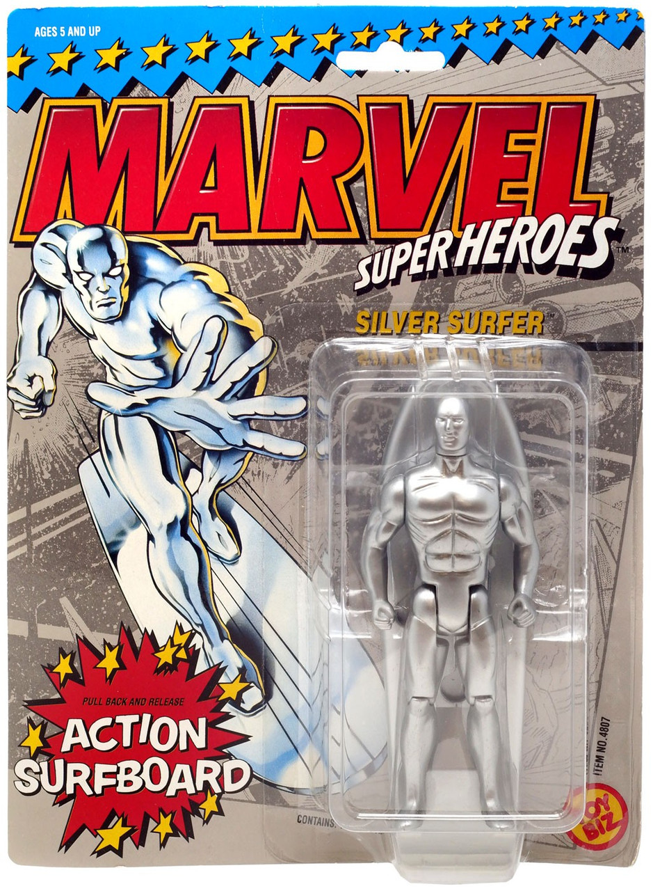SILVER SURFER MARVEL COMICS MINIFIGURE FIGURE USA SELLER NEW IN PACKAGE