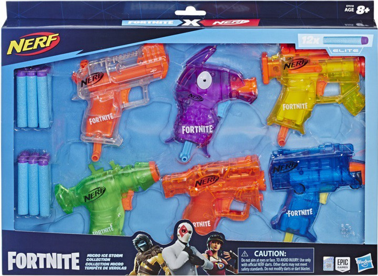 NERF Fortnite Micro Shots Ice Storm Collection Dart Blaster 6-Pack  (Pre-Order ships January)