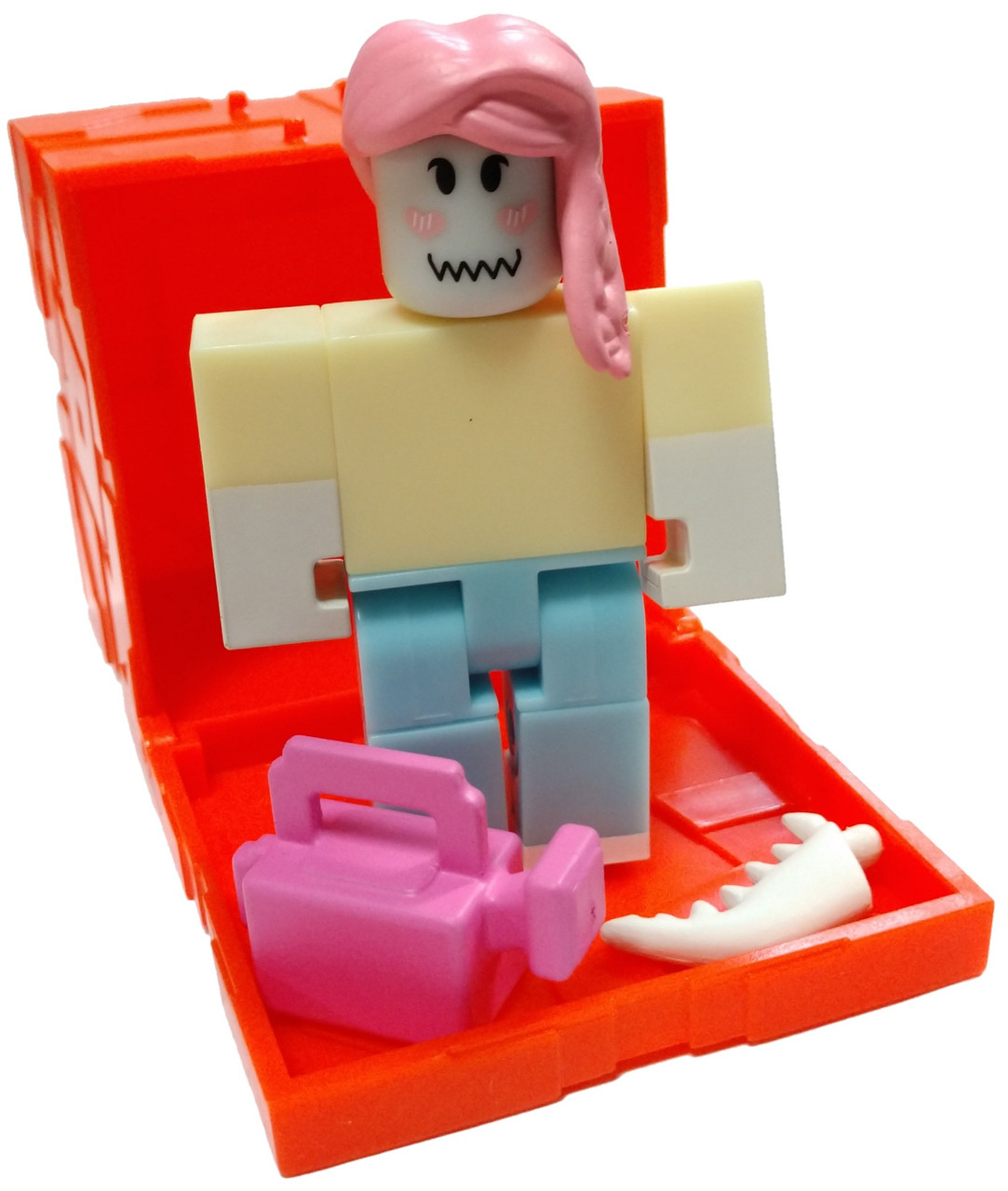 Roblox Series 3 Patient Zero Mini Figure Without Code No Packaging - Roblox Series 6 Gardening Simulator Priscilla Mini Figure With Orange Cube And Online Code Loose