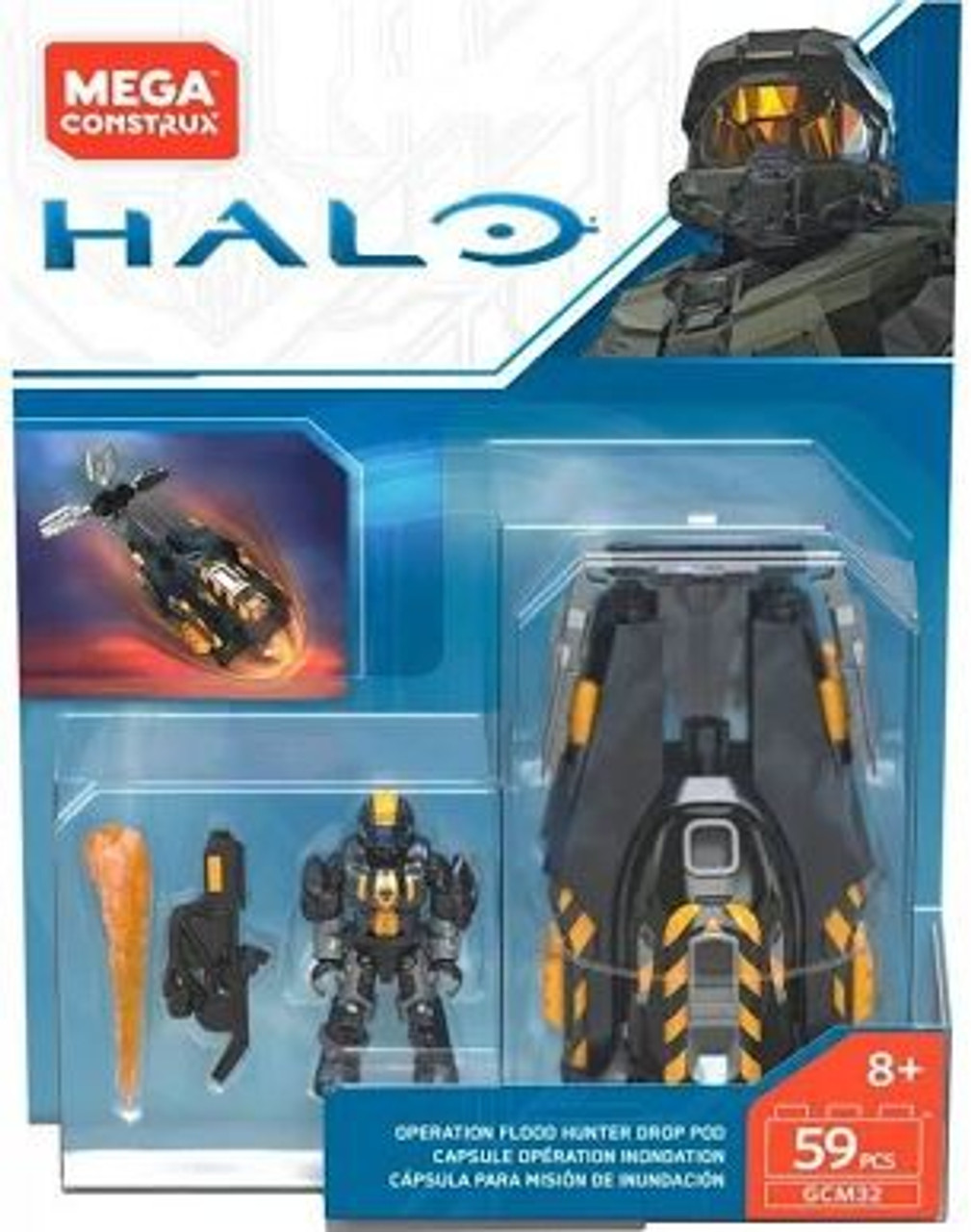 Mega Bloks Construx Halo Operation Veritas Drop Pod Damaged Pack