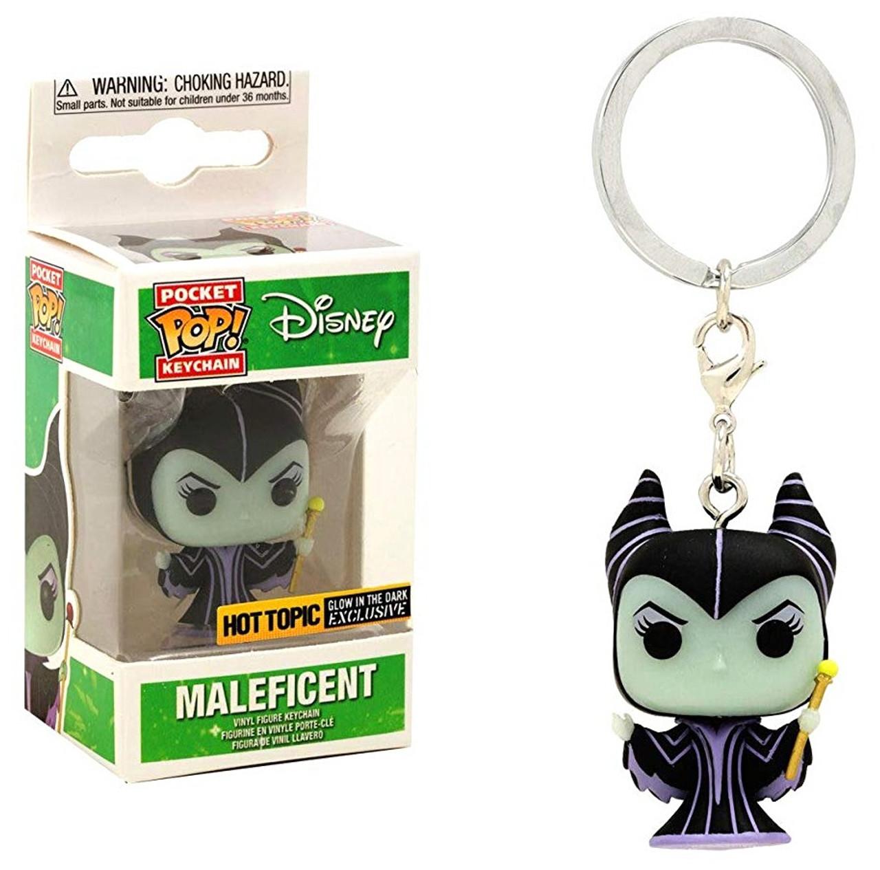 Maleficent Glow Pocket Pop Keychain FunKo Free Shipping! Sleeping Beauty