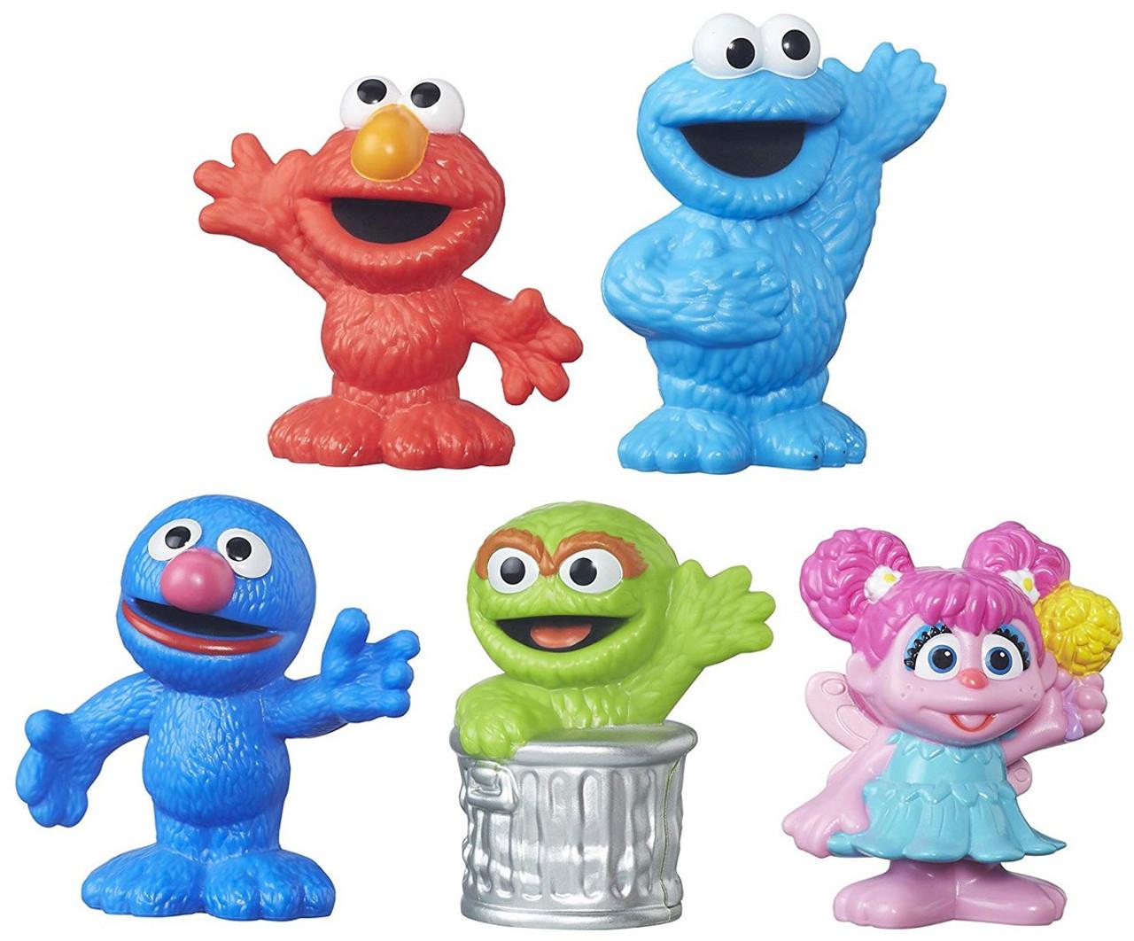 Sesame Street Elmo Cookie Monster Grover Oscar The Grouch Abby Cadabby Figure 5 Pack