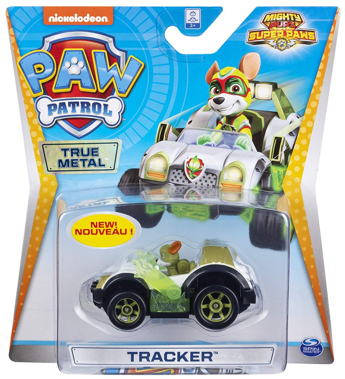 NEW Nickelodeon Paw Patrol Mighty Pups Super Paws Ryder Metal Mini Figure ATV