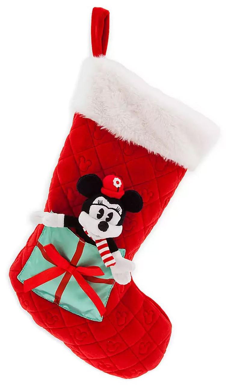 Christmas Minnie Mouse Plush.Disney 2019 Holiday Minnie Mouse Exclusive Plush Christmas Stocking Mini Plush