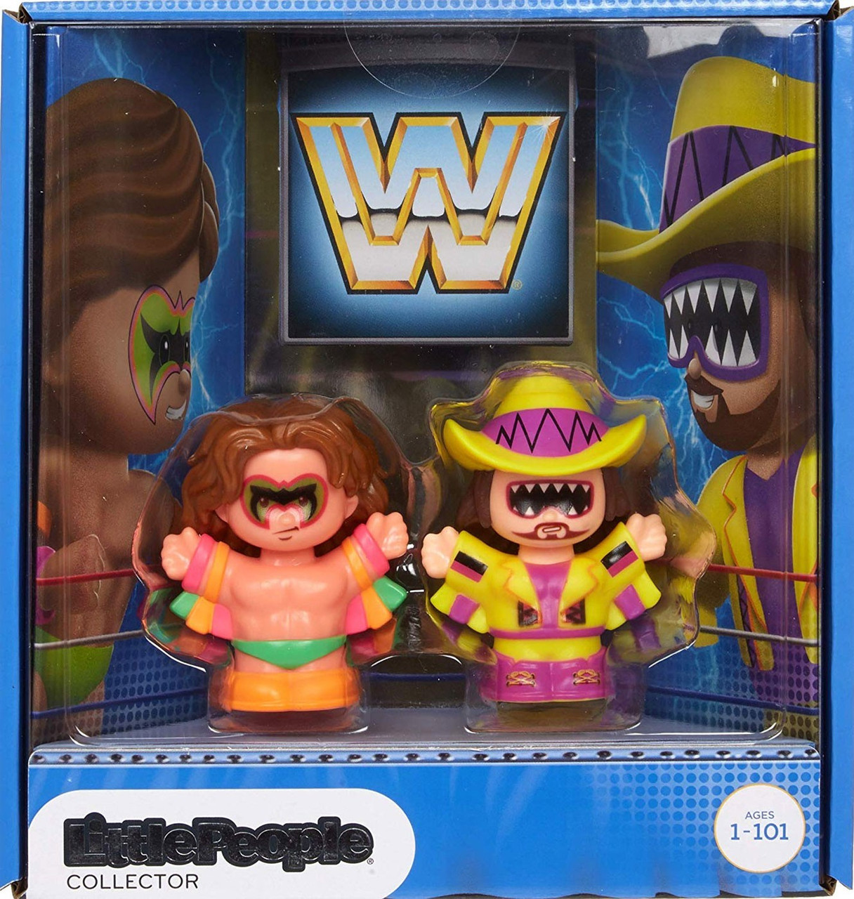 WWE WRESTLING SQUISH UMS SINGLE ULTIMATE WARRIOR LOOSE SLOW RISE WITH PACKAGING