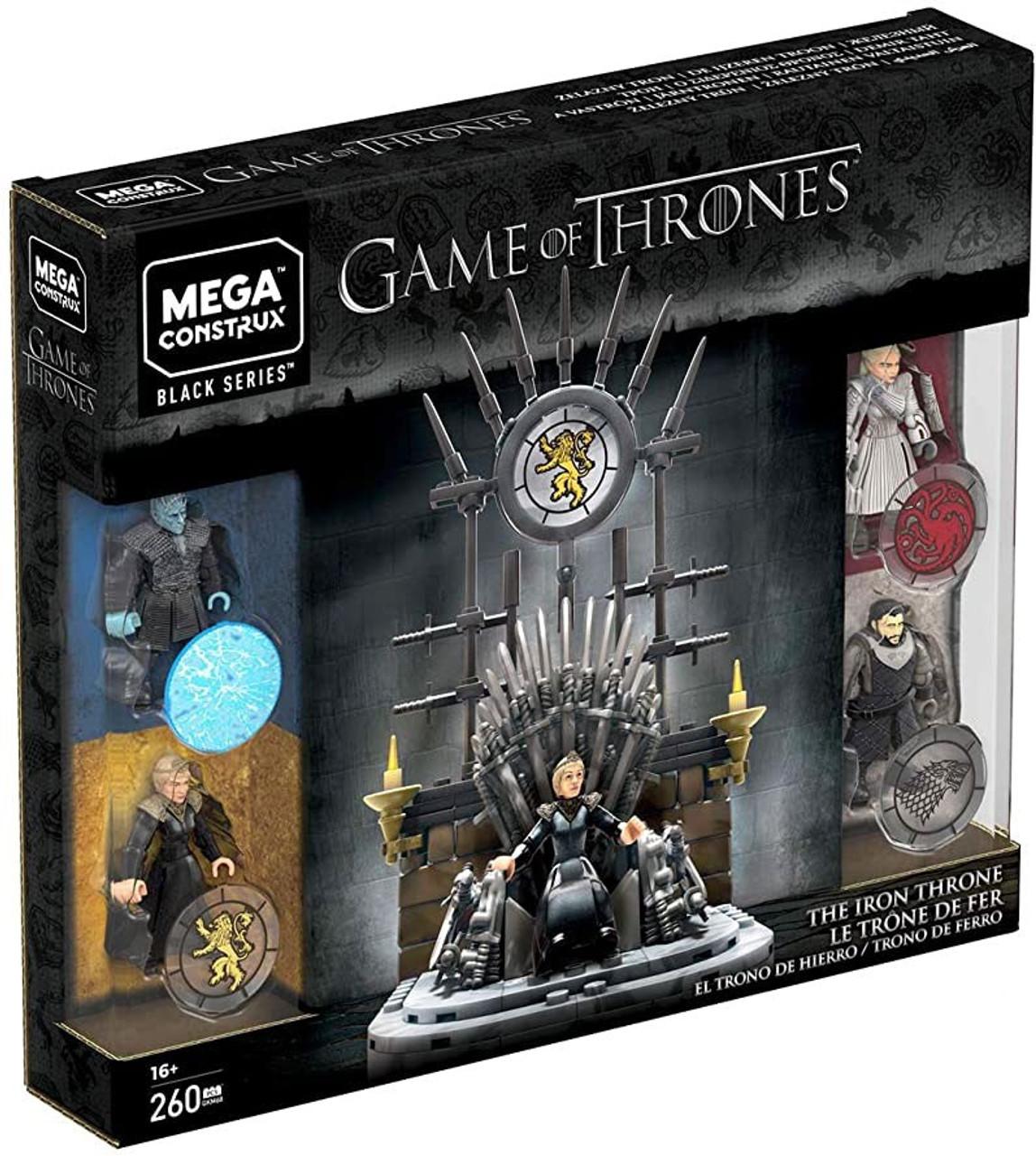 Game Of Thrones Mega Construx Black Series Iron Throne Set Mattel