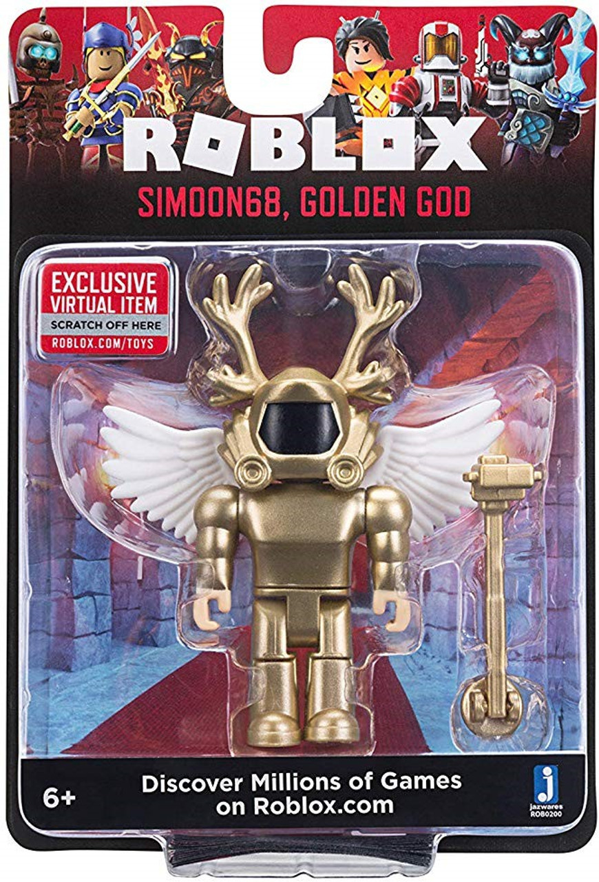 Roblox Simoon68 Golden God 3 Action Figure Jazwares Toywiz