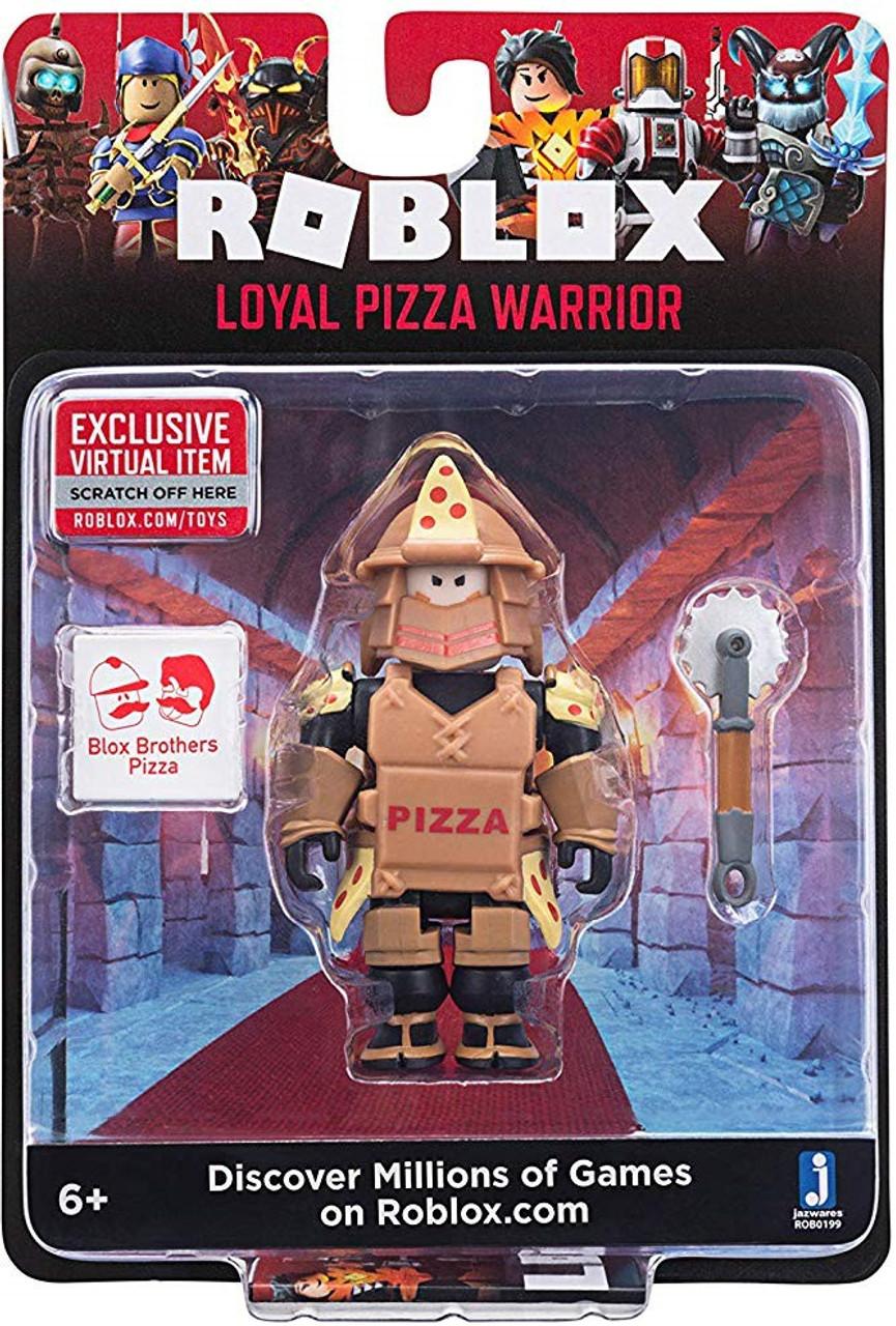 ROBLOX Loyal PIZZA WARRIOR figure avec Exclusive Virtual objet code