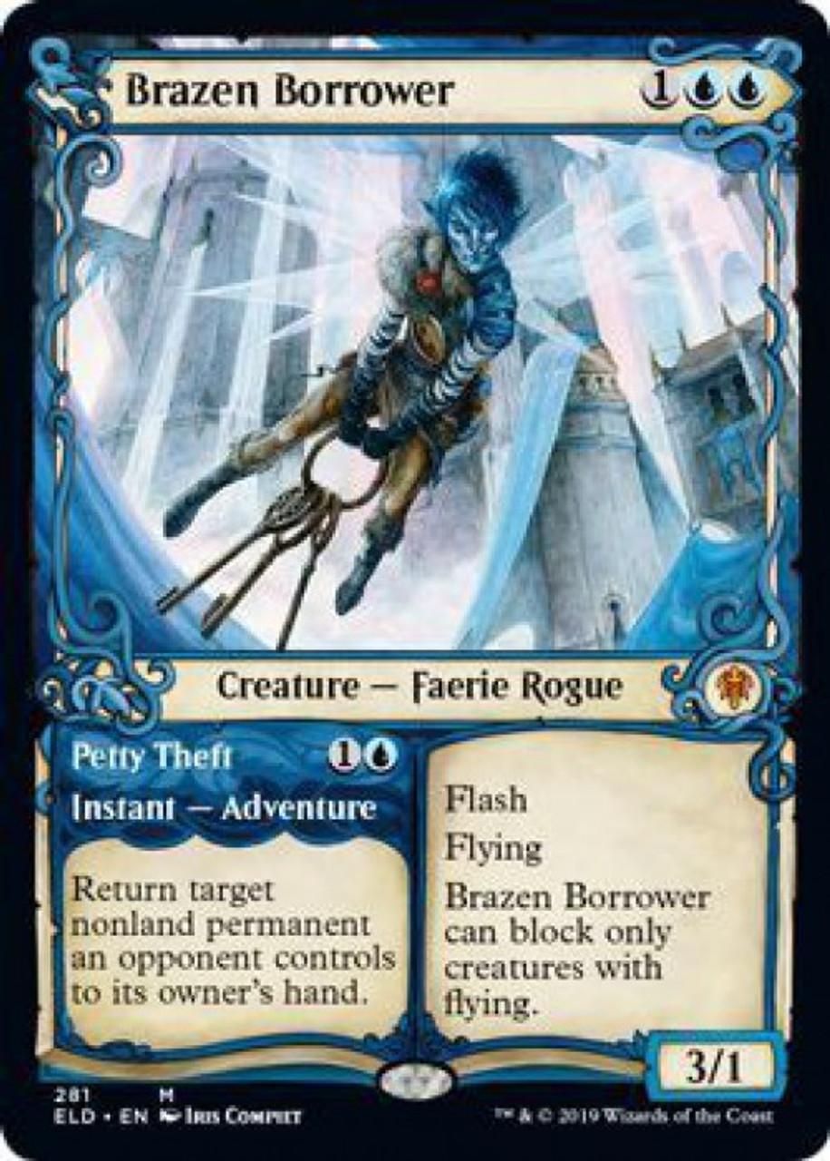 Showcase Brazen Borrower Near Mint Normal English Magic Card Throne of Eldraine