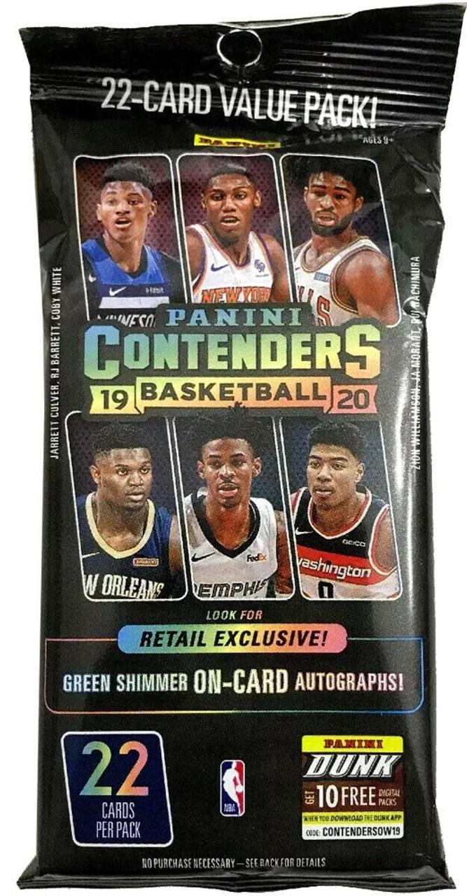 PANINI CONTENDERS NBA Basket 2019//20 Fat Pack