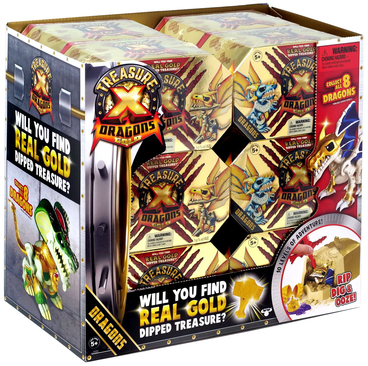 LoT of 2 Treasure X Adventure Blind Mystery Pack 10 Levels of Adventure