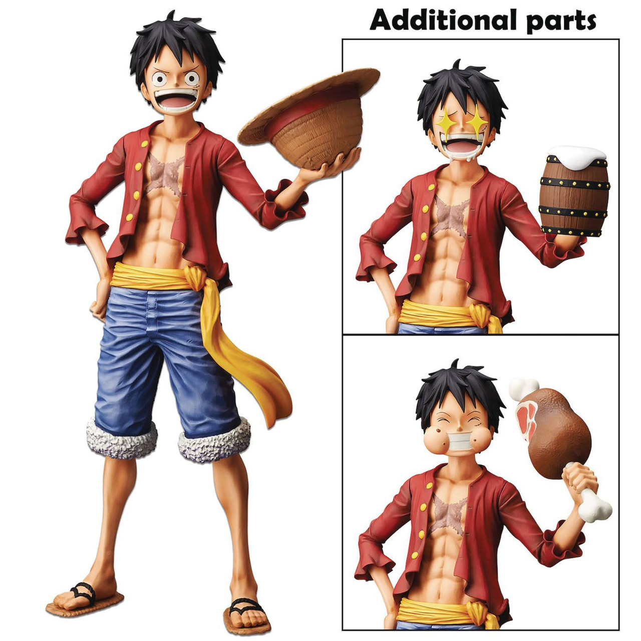 One Piece Grandista Nero Line Monkey D Luffy 11 Inch Collectible Pvc Figure Alternate Parts Pre Order Ships August