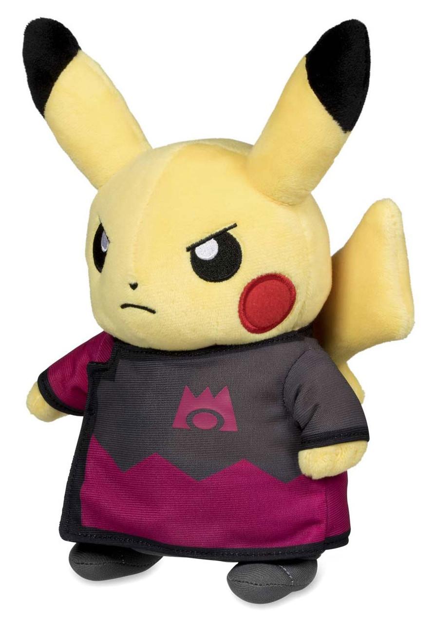 Pokemon Boss Costume Collection Team Plasma Ghetsis Pikachu 8-Inch Plush