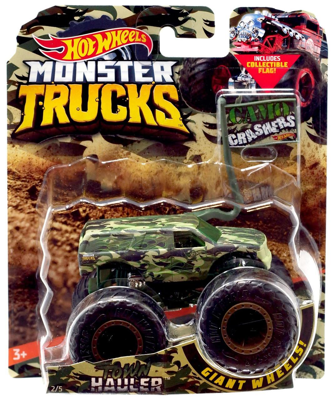 Hot Wheels Monster Trucks Town Hauler 164 Diecast Car Camo ...
