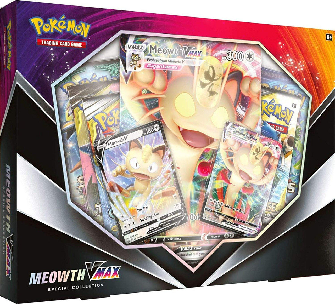 Pokemon Trading Card Game Sword Shield Meowth Vmax Special Collection Box