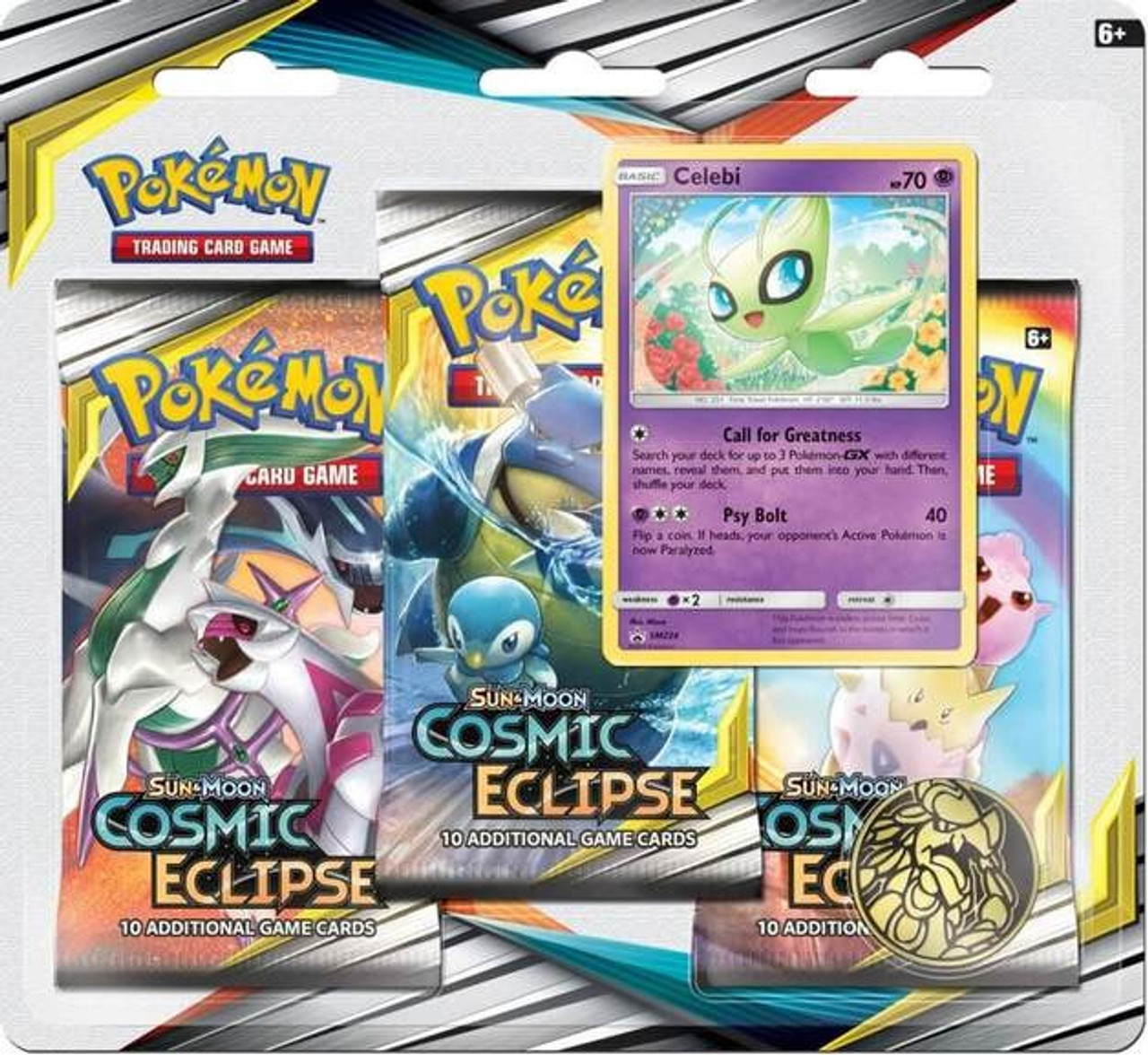 Lunar Eclipse Roblox Avatar Now Pokemon Trading Card Game Sun Moon Cosmic Eclipse Celebi Special Edition 3 Booster Packs Promo Card Coin Pokemon Usa Toywiz