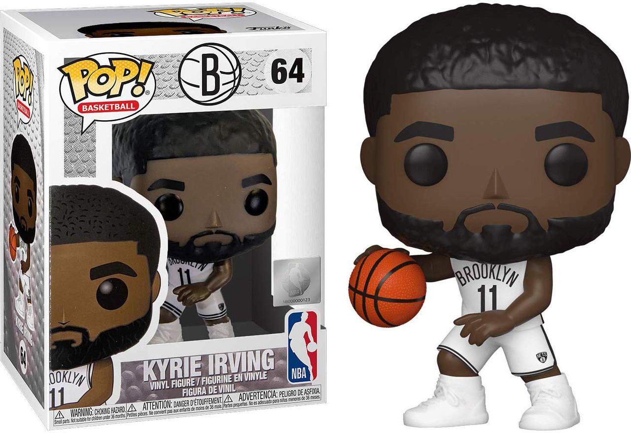 Funko NBA Brooklyn Nets POP Sports Basketball Kyrie Irving Vinyl Figure 64  White Uniform - ToyWiz