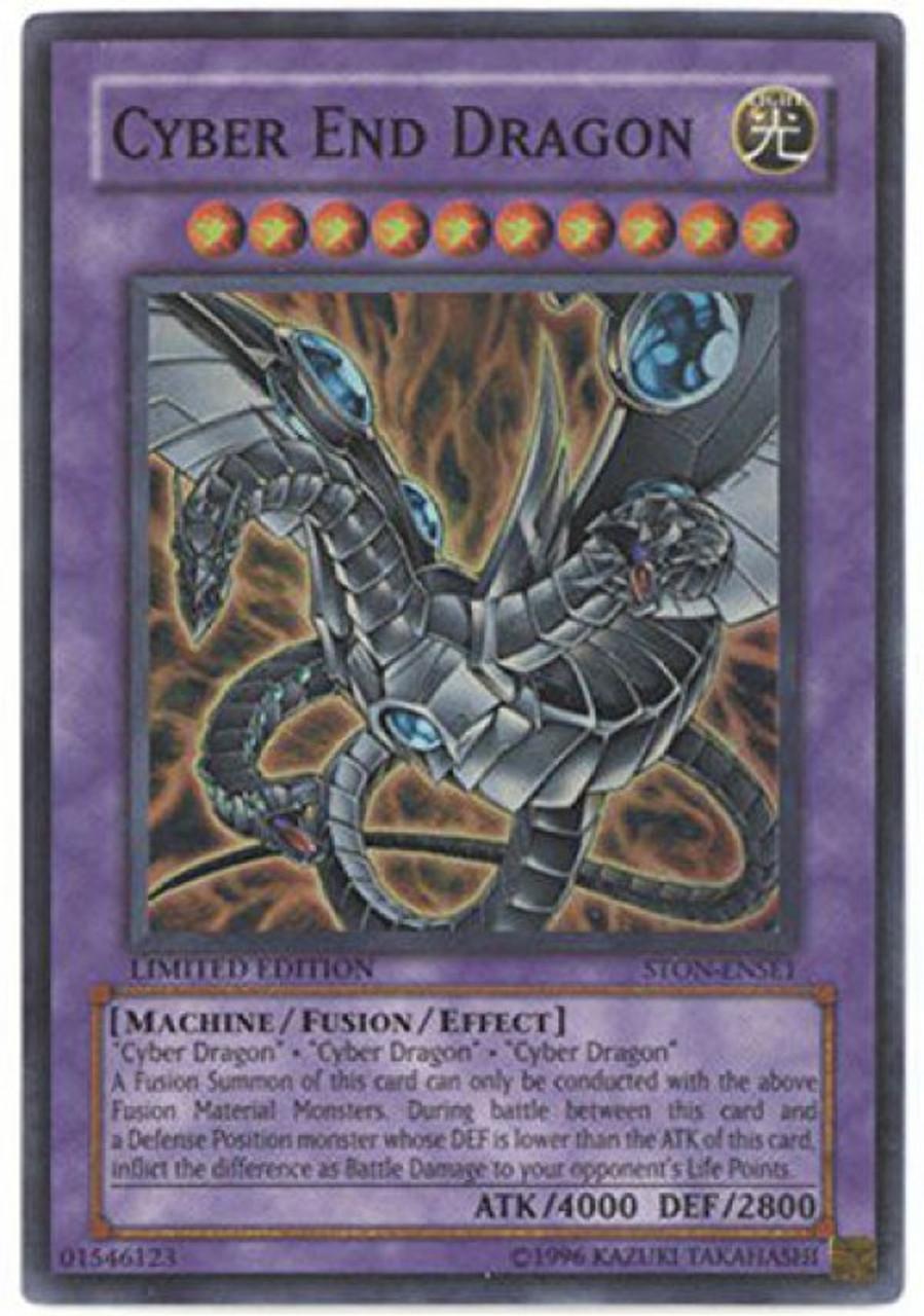 Yu-Gi-Oh GX STON-ENSE1 CYBER END DRAGON Limited Edition card