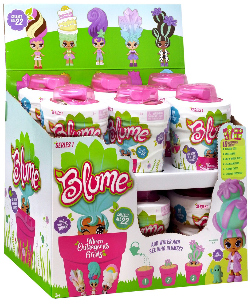 Blume Hair Stylin/' Surprise Exclusive Mystery 2-Pack Rare Doll Included