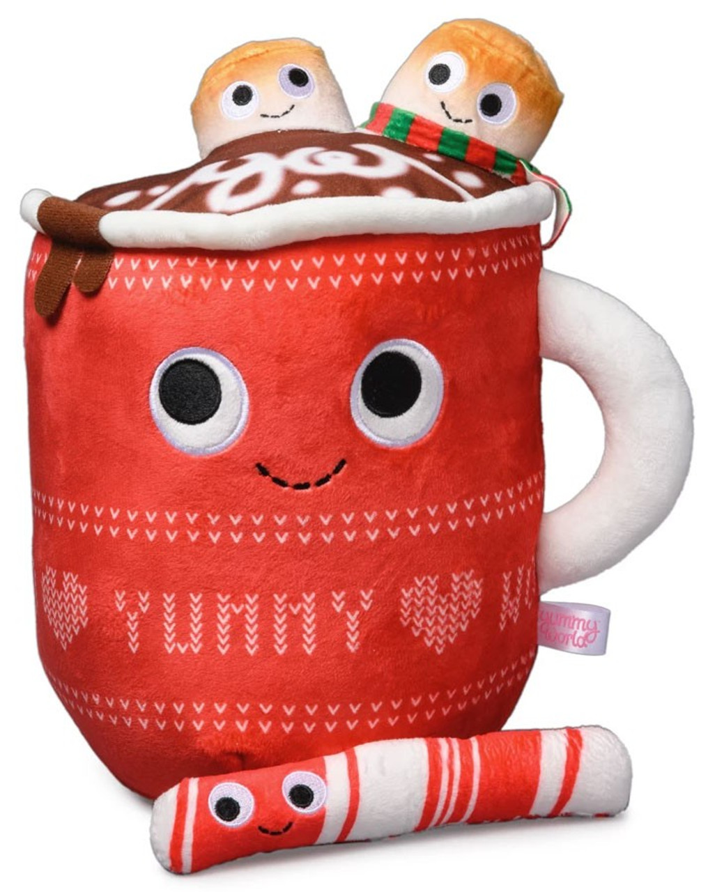 Yummy World Judy Hot Cocoa With Marshmallows Peppermint Stick 11 Inch Large Plush - hot coco pic roblox