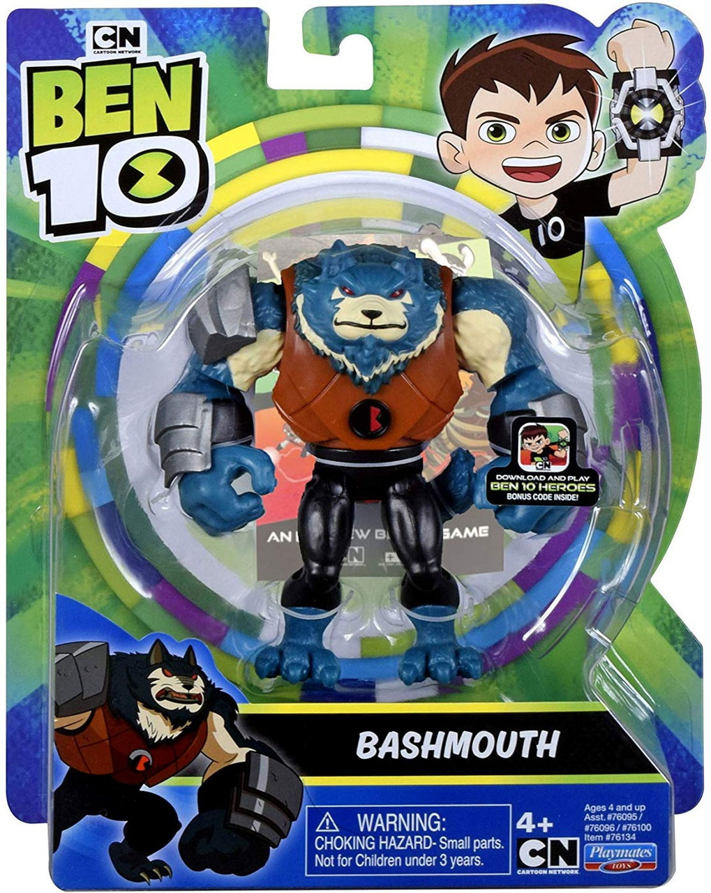 Ben 10 Out of the Omnitrix Overflow Playmates Cartoon 5-Inch Action Figure NEW