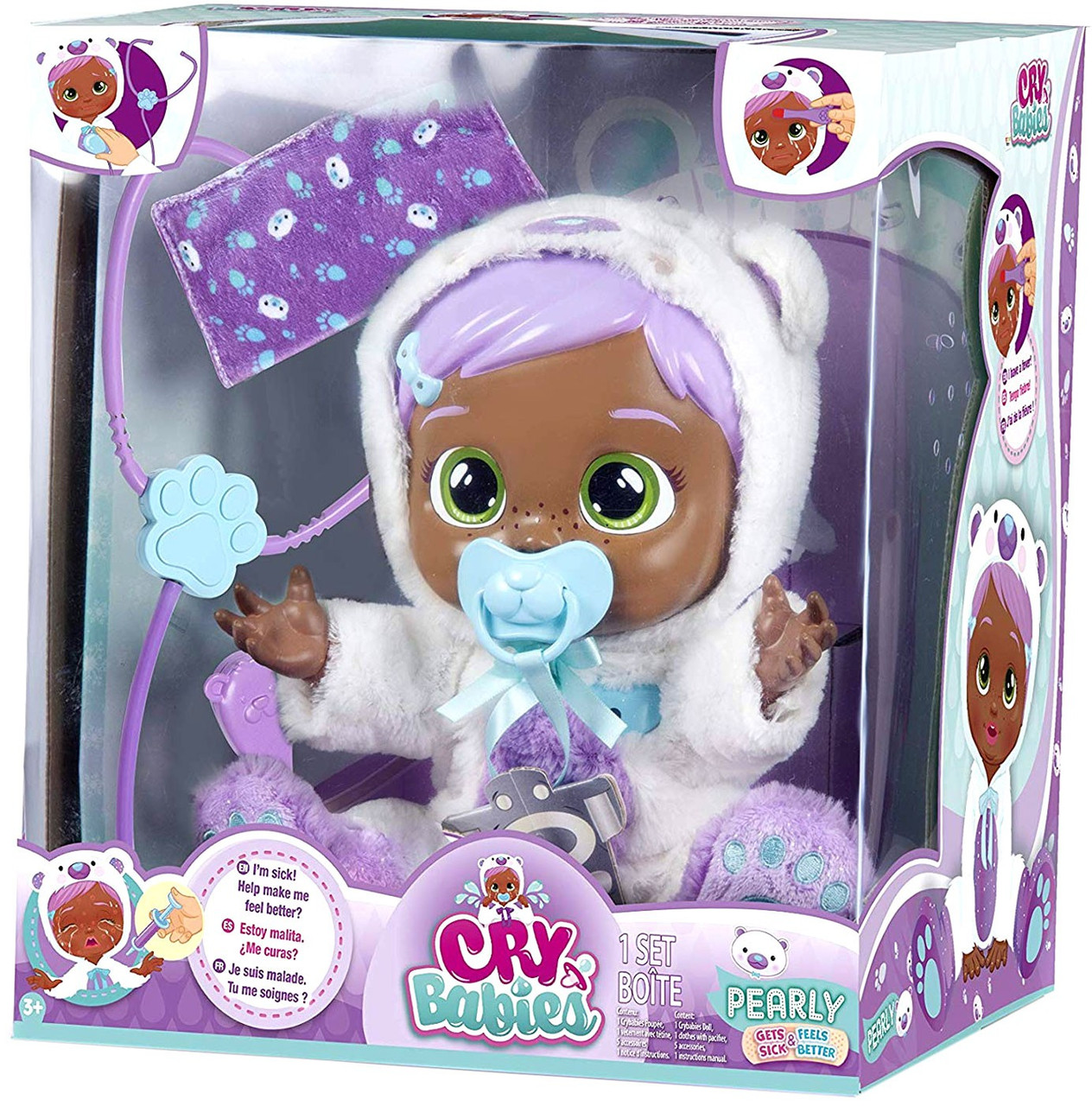 CRY BABIES Baby PEARLY Cries Real Tears Interactive Doll NEW